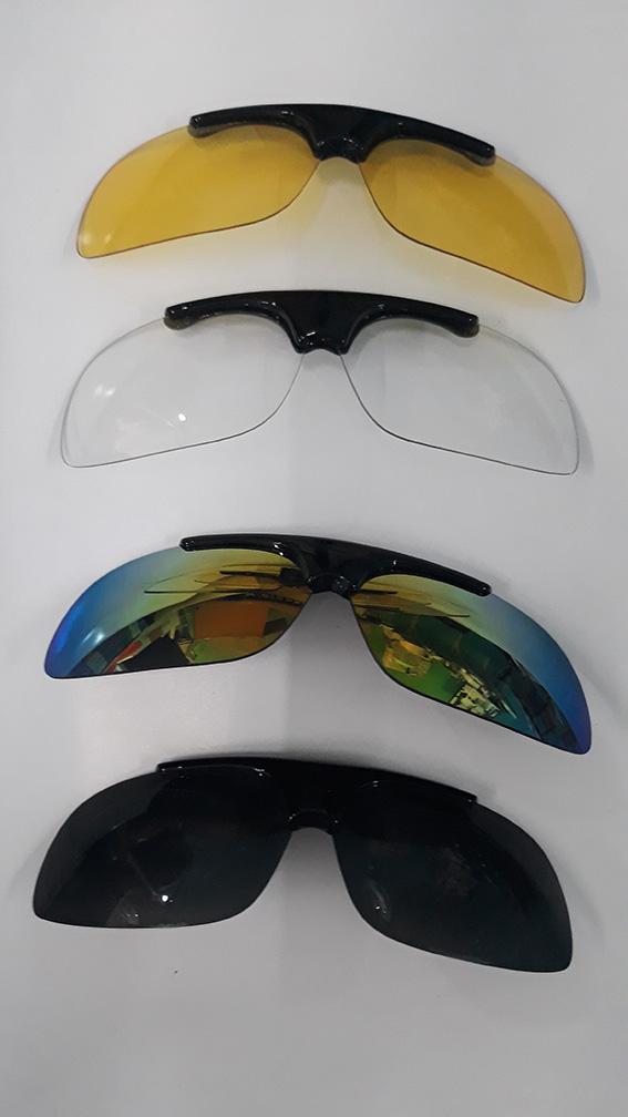 แว่นกันแดด Polarized Fishgoto (Open lens) +คลิป Alloy