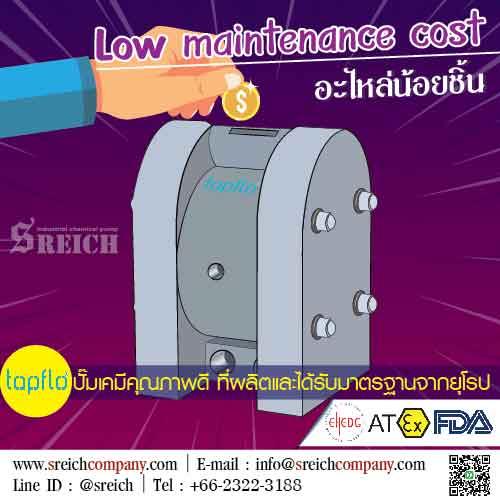 Low maintenance cost หาซื้อปั๊มภาคใต้