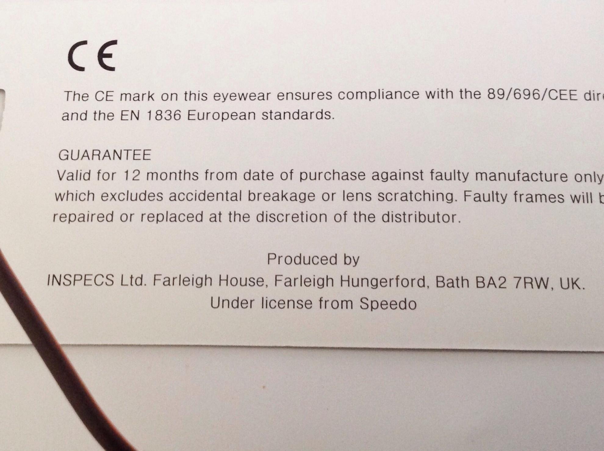 กรอบแว่น Speedo ผลิตในอังกฤษ ของแท้ 100%ขายถูกๆ 1390 บาท ส่งฟรี